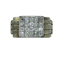 Load image into Gallery viewer, French Art Deco Diamond White Gold Pinky Ring