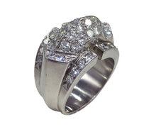 Load image into Gallery viewer, Art Moderne Diamond Platinum Ridge Ring