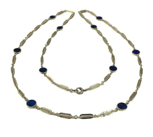 Lapis Lazuli and Gold Chain Necklace c. 1960