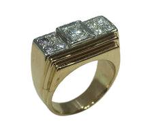 Load image into Gallery viewer, 1935 Art Deco Diamond Rose Gold Platinum Ring