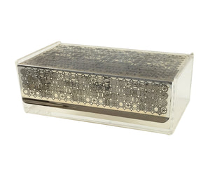 Lucite Chrome Metal Box c.1960