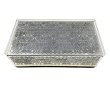 Load image into Gallery viewer, Lucite Chrome Metal Box c.1960
