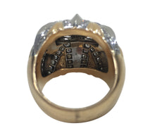 Load image into Gallery viewer, French Retro Diamond Gold Platinum Bombe Ring