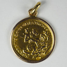 Load image into Gallery viewer, Austrian Yellow Gold St George Ducat Charm Pendant