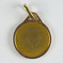 Load image into Gallery viewer, French 18K Yellow Gold St Therese Medal Charm Pendant