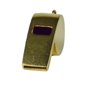 Gold Whistle Charm Pendant
