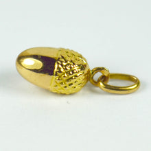 Load image into Gallery viewer, French 18K Yellow Gold Acorn Charm Pendant