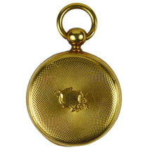 Load image into Gallery viewer, Victorian Yellow Gold Barometer Fob Charm Pendant