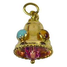 Load image into Gallery viewer, Gemset Gold Bell Charm