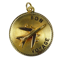 Load image into Gallery viewer, 14K Yellow Gold Bon Voyage Airplane Charm Pendant