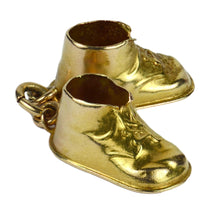 Load image into Gallery viewer, 14kt Yellow Gold Baby Boots Shoes Charm Pendant
