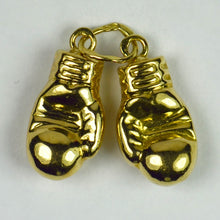 Load image into Gallery viewer, 18K Yellow Gold Boxing Gloves Charm Pendant