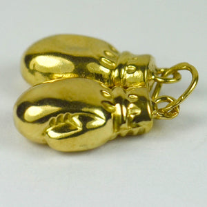 18K Yellow Gold Boxing Gloves Charm Pendant