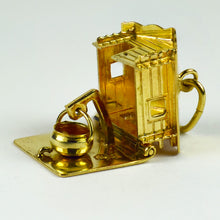 Load image into Gallery viewer, 18K Yellow Gold Mechanical House Cooking Pot Charm Pendant