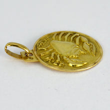 Load image into Gallery viewer, French 18K Yellow Gold Zodiac Cancer Charm Pendant