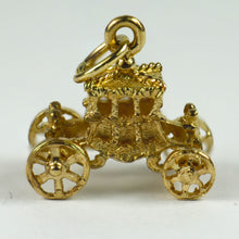 Load image into Gallery viewer, 9K Yellow Gold Mechanical Carriage Charm Pendant