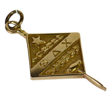 Load image into Gallery viewer, Vintage 14K Theta Delta Chi Fraternity Charm Pendant