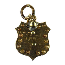 Load image into Gallery viewer, Vintage 14K Yellow Gold Pearl Diamond Enamel Theta Delta Chi Fraternity Charm Pendant