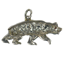 Load image into Gallery viewer, Platinum Diamond Ruby Bear Charm Pendant