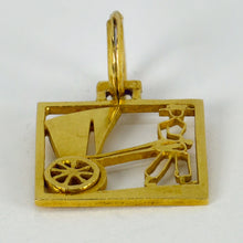 Load image into Gallery viewer, Rickshaw 18K Yellow Gold Square Charm Pendant