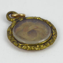 Load image into Gallery viewer, Gold Filled Blonde Hair Mourning Locket Charm Pendant