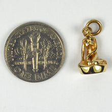 Load image into Gallery viewer, 14K Yellow Gold Danish Mermaid Statue Charm Pendant