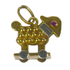 Ruby Gold Sheep Baby Toy Charm