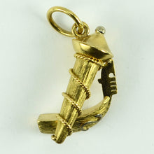 Load image into Gallery viewer, 18K Yellow White Gold Large Italian Gondola Boat Venice Charm Pendant