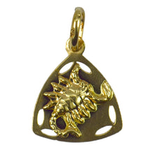 Load image into Gallery viewer, Italian 18K Yellow Gold Zodiac Scorpio Charm Pendant