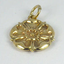 Load image into Gallery viewer, 9K Rose Gold Tudor Rose Charm Pendant