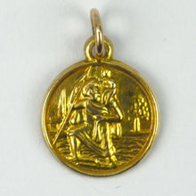 Load image into Gallery viewer, 9K Yellow Gold St Christopher Charm Pendant