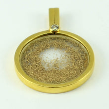 Load image into Gallery viewer, French 18K Yellow Gold Diamond Gold Dust Pendant by Sylvain
