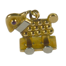 Load image into Gallery viewer, Ruby Gold Sheep Baby Toy Charm