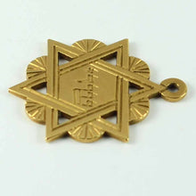 Load image into Gallery viewer, 18K Yellow Gold Jewish Star of David Charm Pendant