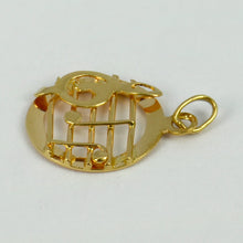 Load image into Gallery viewer, 18K Yellow Gold Music Stave So Do Charm Pendant