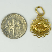 Load image into Gallery viewer, Italian 18K Yellow Gold Zodiac Pisces Charm Pendant