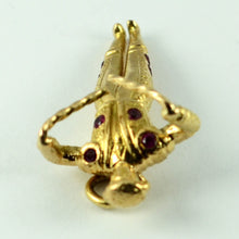 Load image into Gallery viewer, 18K Yellow Gold Red Ruby Spanish Matador Charm Pendant