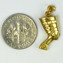 Load image into Gallery viewer, 18K Yellow Gold Nefartiti Charm Pendant