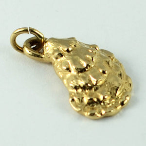 14K Yellow Gold Oyster Shell Charm Pendant