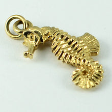 Load image into Gallery viewer, 14K Yellow Gold Seahorse Charm Pendant