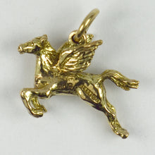 Load image into Gallery viewer, 9K Yellow Gold Pegasus Charm Pendant