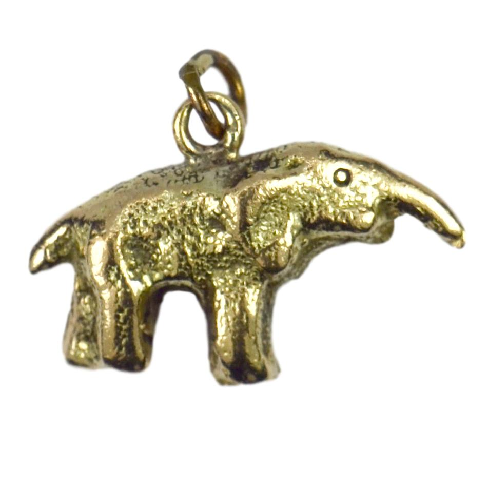 9K Yellow Gold Elephant Charm Pendant