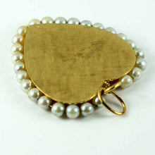 Load image into Gallery viewer, 14K Yellow Gold Pearl Large Heart Charm Pendant