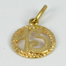 Load image into Gallery viewer, Italian 18K Yellow Gold Lucky 13 Charm Pendant