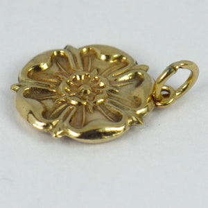 9K Rose Gold Tudor Rose Charm Pendant