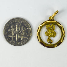 Load image into Gallery viewer, Vintage 18K Yellow Gold Scorpio Zodiac Charm Pendant