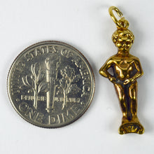 Load image into Gallery viewer, 18K Yellow Gold Manneken Pis Dutch Statue Charm Pendant