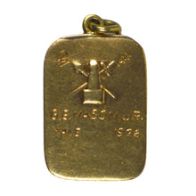 Load image into Gallery viewer, Gold Enamel Yale Charm Pendant