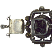 Load image into Gallery viewer, Antique Portuguese Silver Chrysoberyl Floral Clasp c.1750