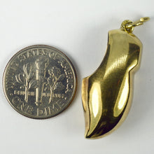Load image into Gallery viewer, 14K Yellow Gold Large Netherlands Clog Charm Pendant